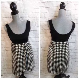 NEW Anthropologie JUDITH MARCH Dress S Houndstooth